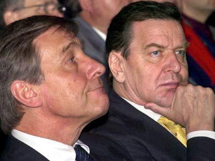 Clement und Schröder zum Thema gesetzlicher Mindestlohn: Skepsis und Ablehnung