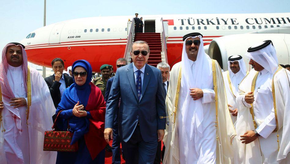 Staatschefs Erdogan und Tamim (2017): Die Türkei und Katar kooperieren immer enger