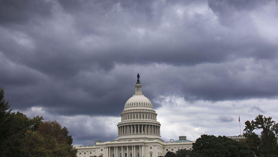Dunkle Wolken über dem Kapitol: Zeit für Einigung im US-Etatstreit verrinnt