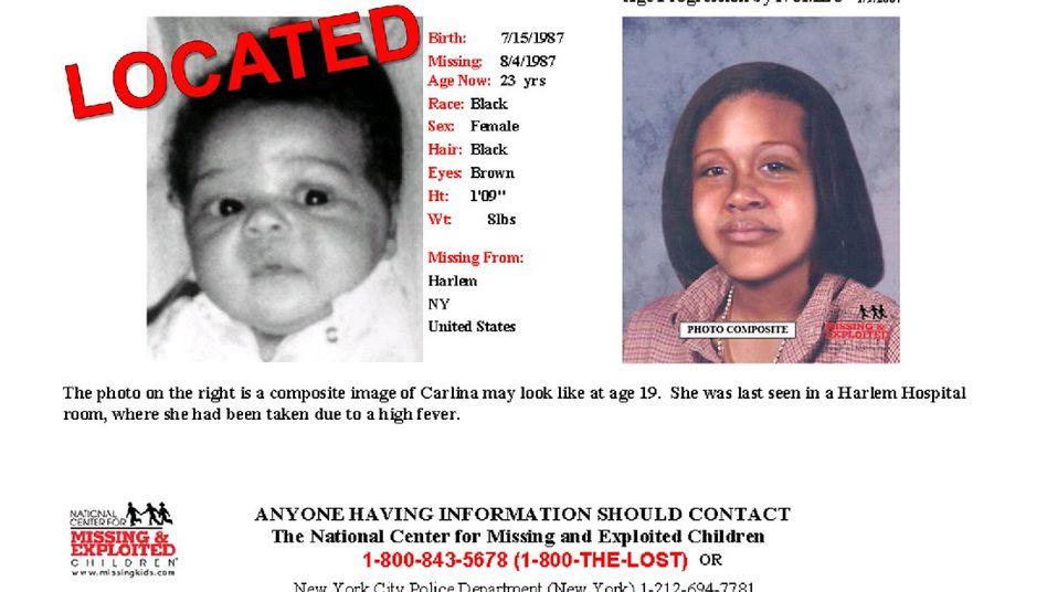 Fahndungserfolg nach 23 Jahren: Mit dieser Anzeige wurde nach Carlina White gesucht
