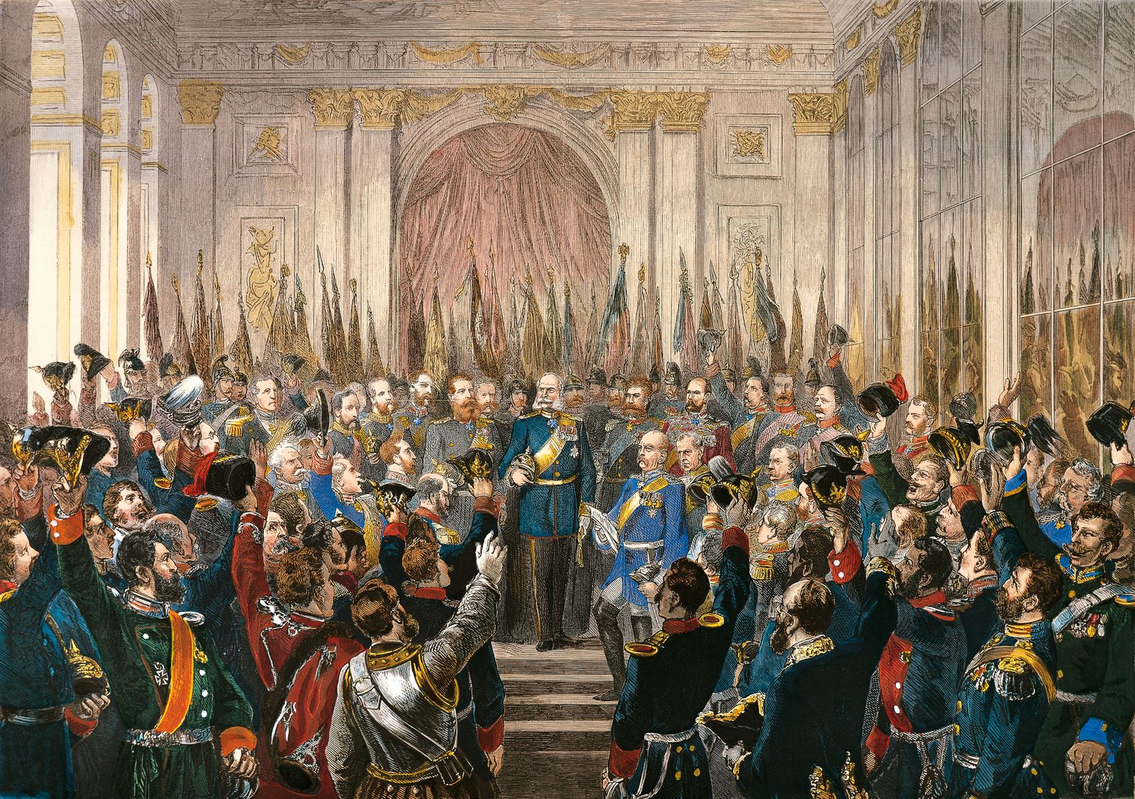 Proclaimation of the German Empire at Versailles