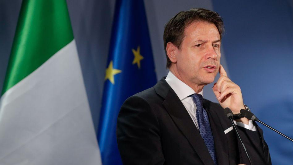 Ministerpräsident Giuseppe Conte: Aussage vom Freitag hat sich schon überholt