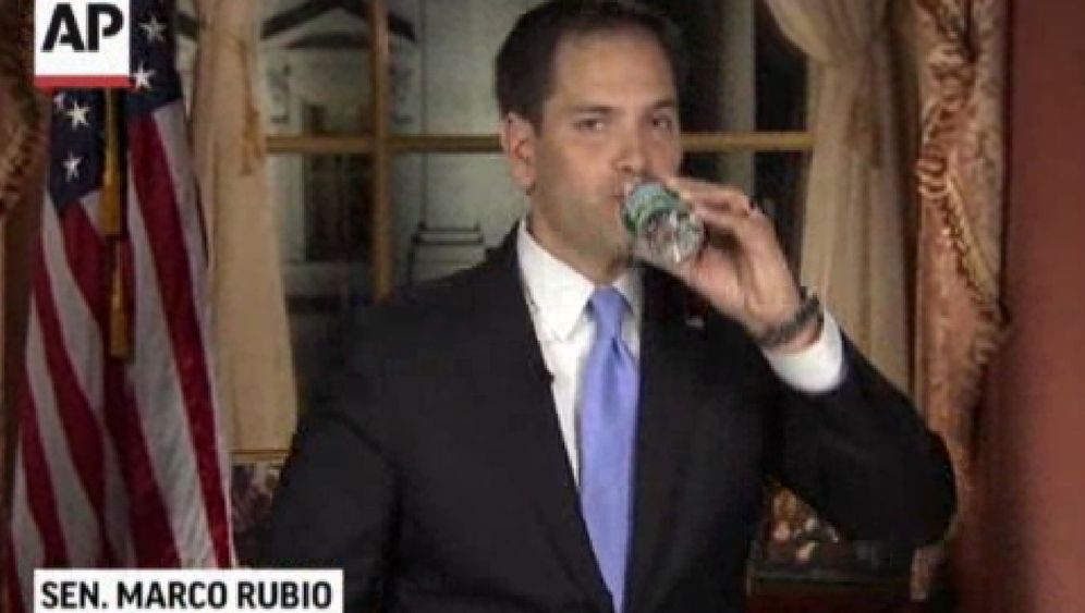 Republikaner Rubio im TV: Wenn ihn der Durst packt