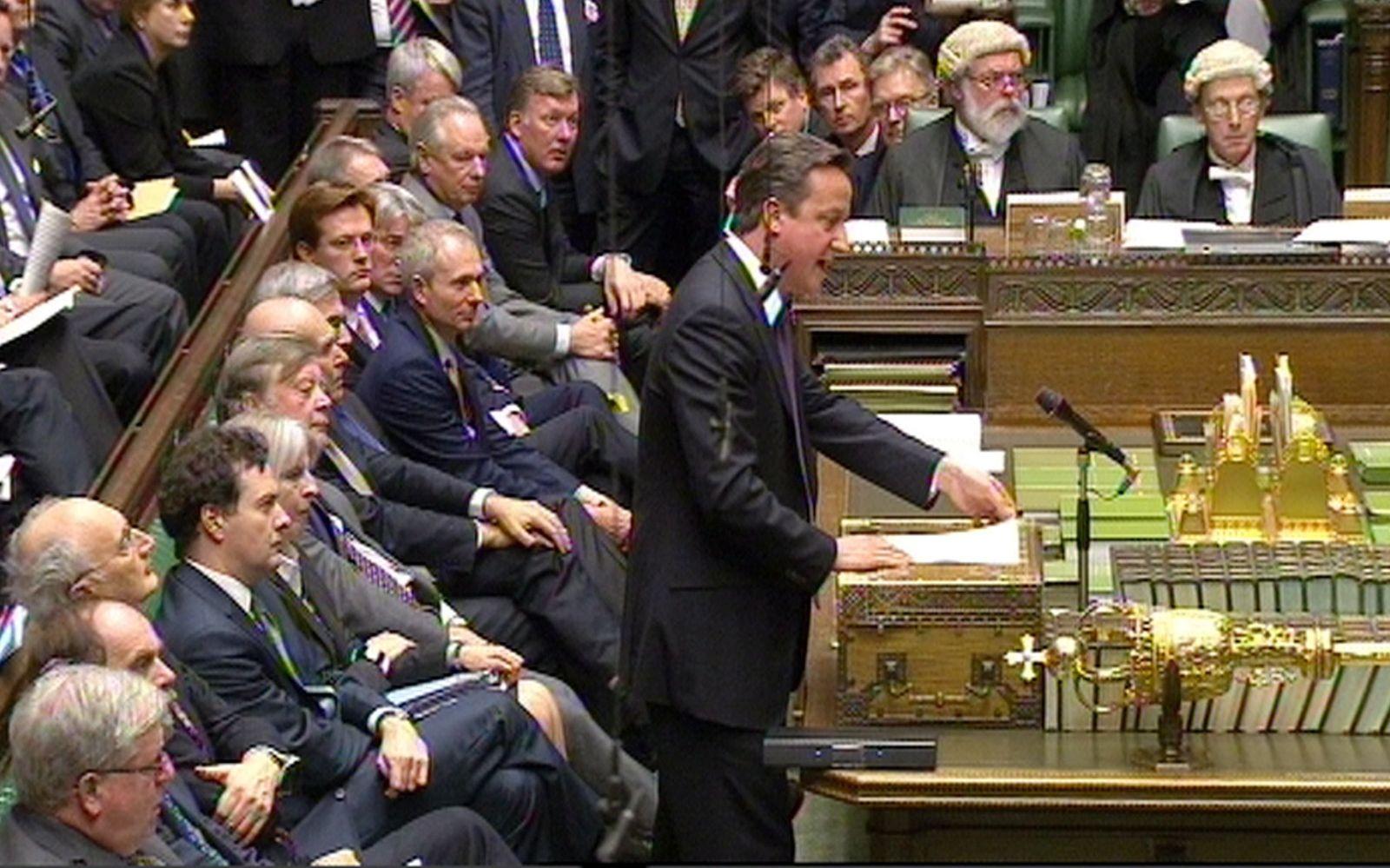 British parliament cameron