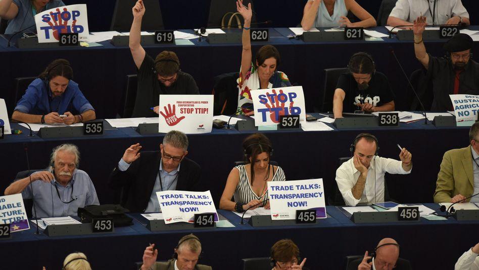 Abgeordnete im Europaparlament: TTIP-Kompromiss in einem Punkt