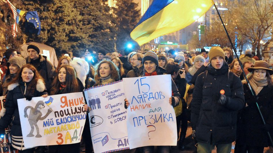 Proteste in Kiew: Pro-europäische Demonstranten in der Ukraine
