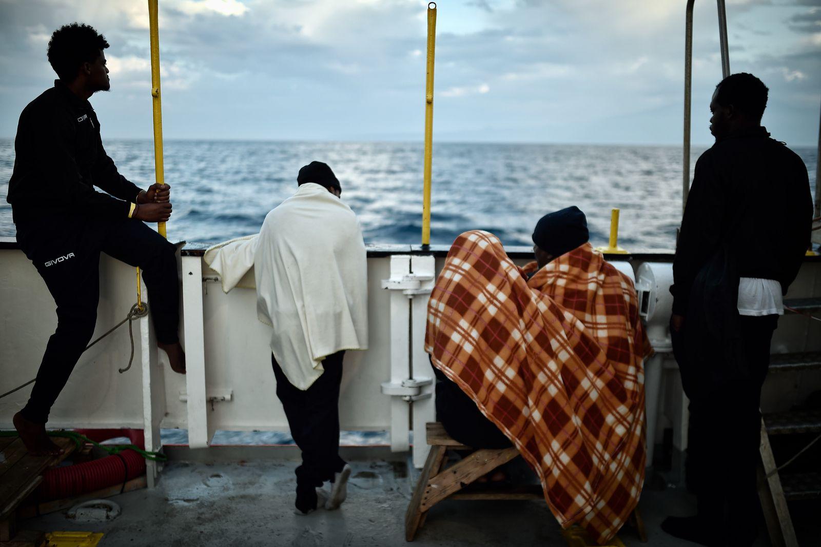 Migranten Aquarius Boot Rettungschiff