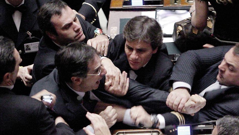 Abgeordnete im italienischen Parlament