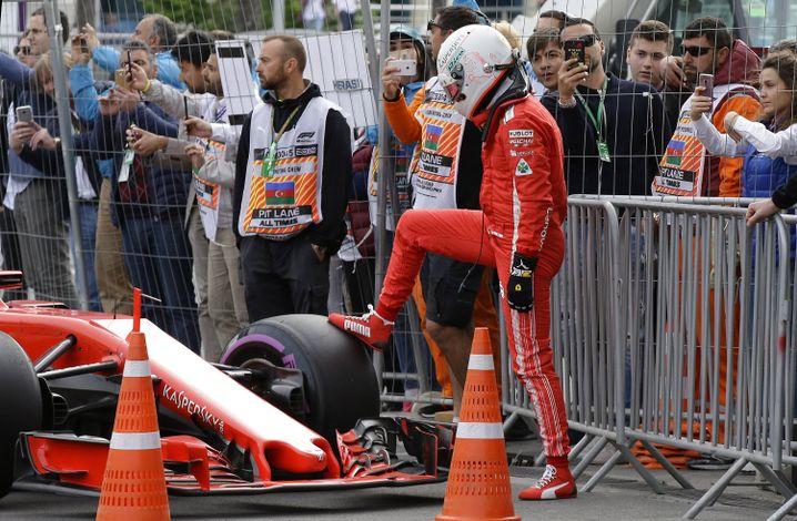 Enttäuschter Sebastian Vettel