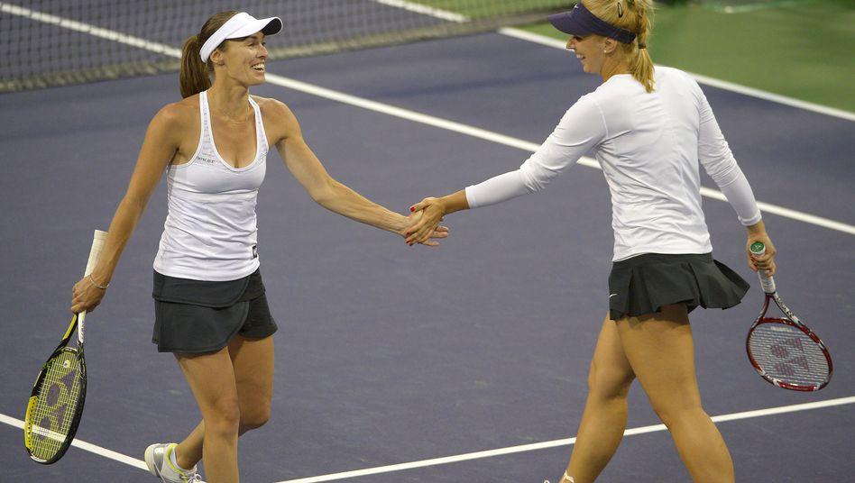 Tennis-Doppel Hingis und Lisicki: Gute Laune trotz Niederlage