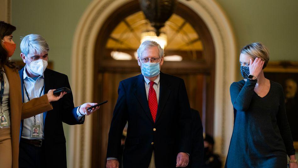 Mitch McConnell, Mehrheitsführer der Republikaner im Senat: Trump-Veto voraus
