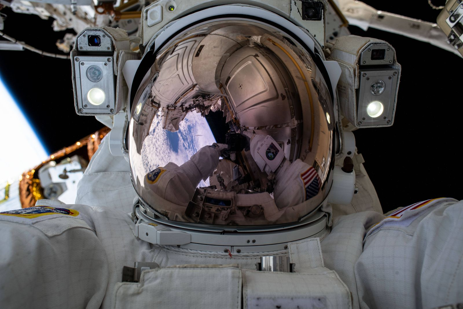 International Space Station Astronaut Chris Cassidy Spacewalk July 21, 2020, International Space Station, EARTH ORBIT: N
