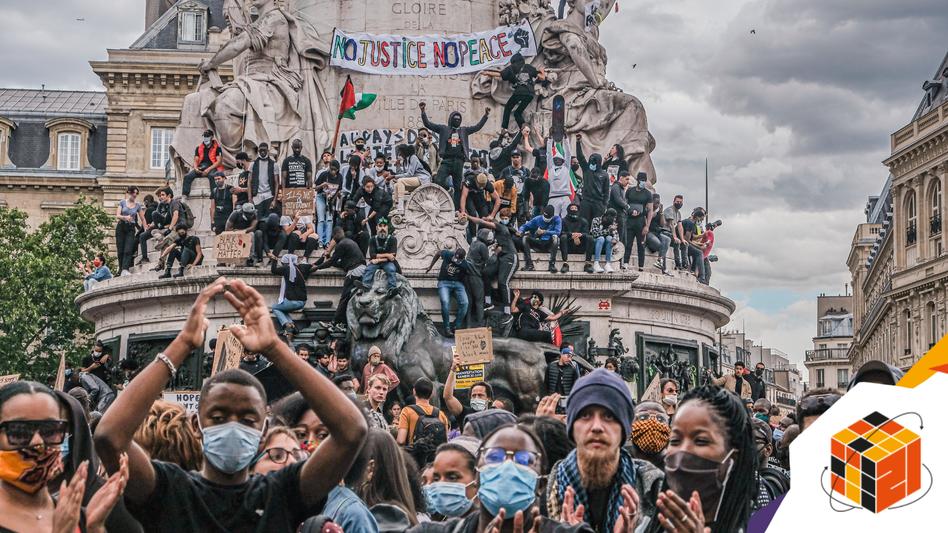 Antirassistische Proteste in Paris