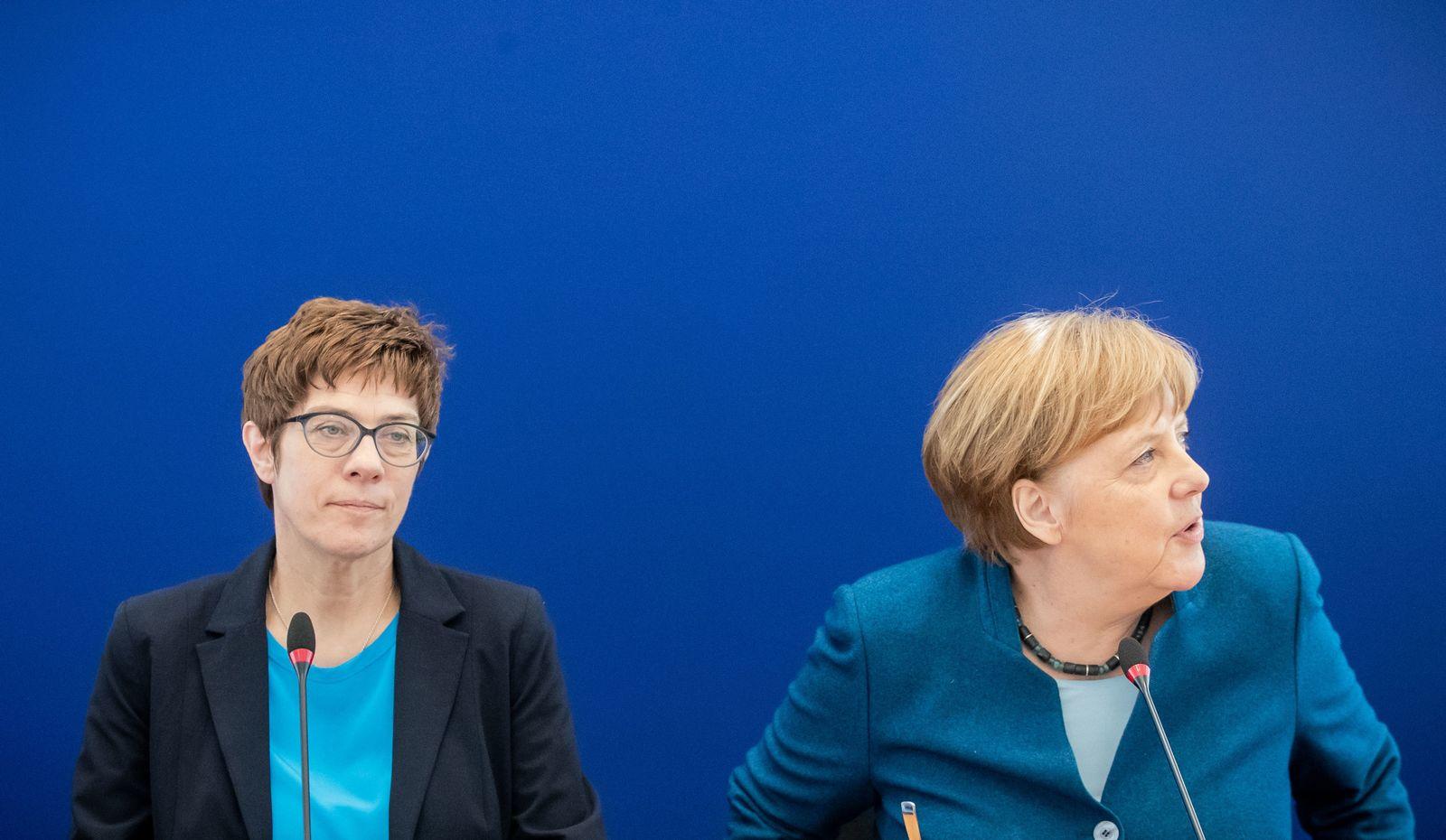 Annegret Kramp-Karrenbauer Angela Merkel
