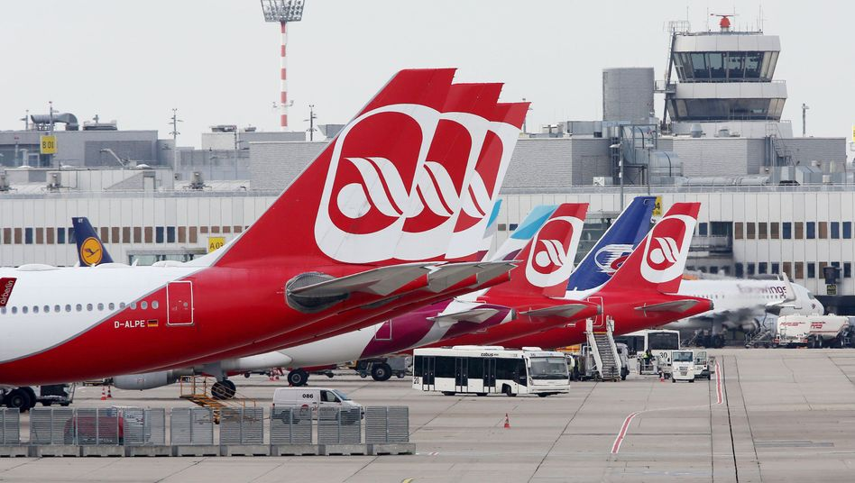 Air-Berlin-Flugzeuge (am Flughafen Düsseldorf)