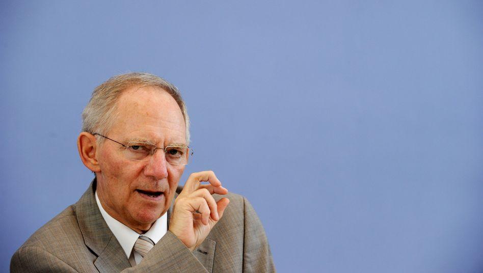 Bundesfinanzminister Schäuble: Widerstand gegen das Sparprogramm