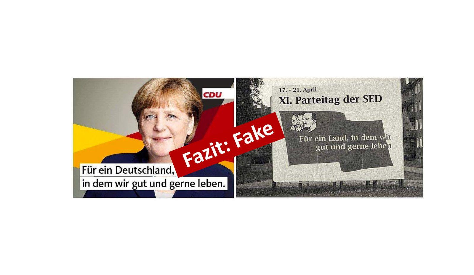 EINMALIGE VERWENDUNG AfD/ Fake/ CDU