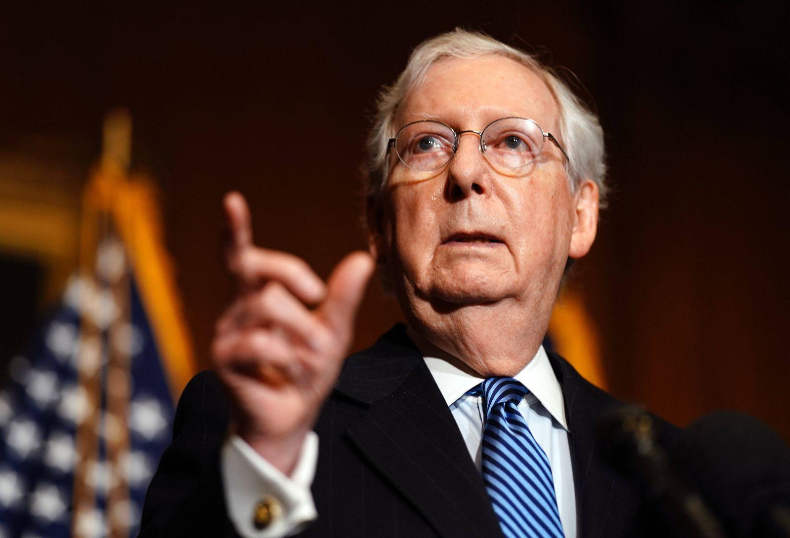 December 8, 2020, Washington, District of Columbia, USA: United States Senate Majority Leader Mitch McConnell (Republic