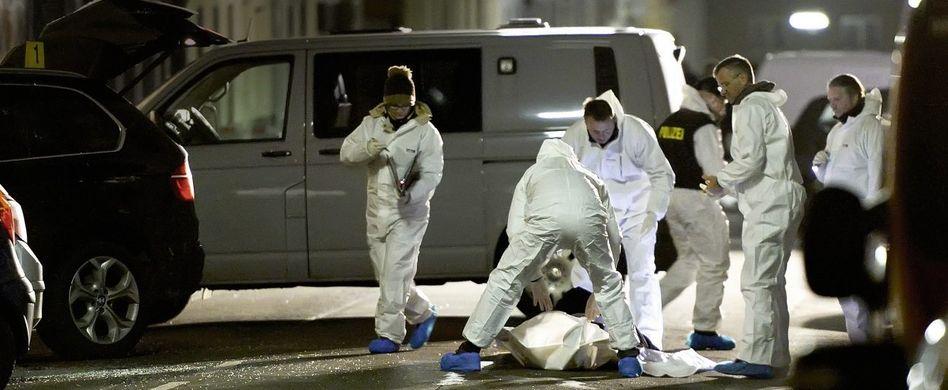 Spurensicherung nach Anschlag am 11. Januar in Wien