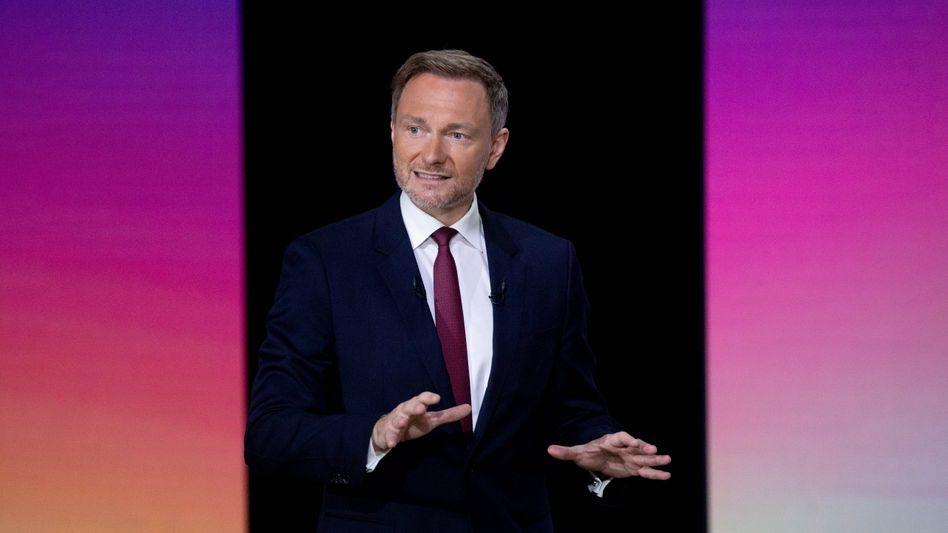 FDP-Vorsitzender Christian Lindner auf dem digitalen Parteitag in Berlin (14. Mai 2021)