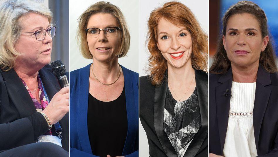 """Chefredakteurinnen (v.l.): Marion Horn (""""Bild am Sonntag""""), Christine Richter (""""Berliner Morgenpost""""), Barbara Hans (DER SPIEGEL) und Dagmar Rosenfeld (""""Welt"""")"""