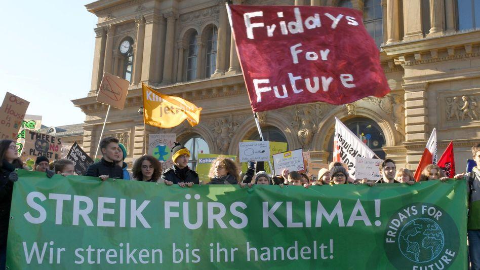Streikende Schüler in Mainz (Archivbild)