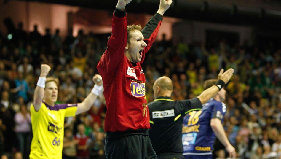 Füchse-Torwart Stochl: Sieg bei Heimpremiere in der Handball-Champions-League