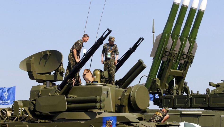 Russisches Buk-Raketensystem (Archivbild): Mögliche Lieferung an Milizen