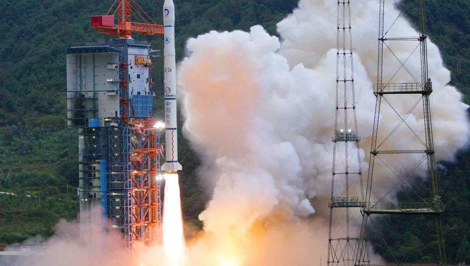 """Start von Chinas Sonde """"Chang'e-1"""" am 24. Oktober 2007"""