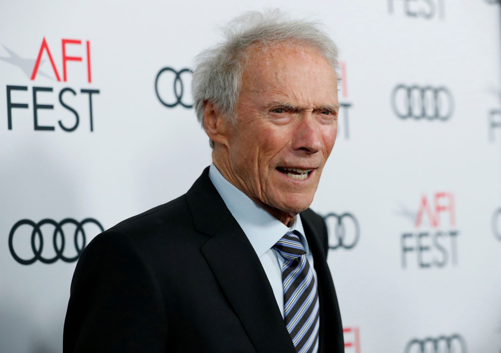 """FILE PHOTO: Director Eastwood poses at the premiere for the movie """"Richard Jewell"""" in Los Angeles"""