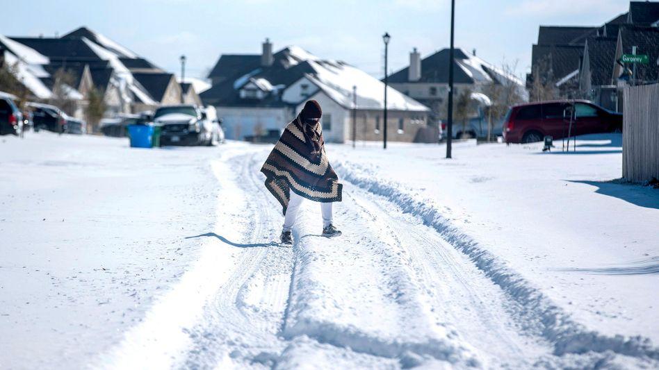 Wintereinbruch in Texas im Februar
