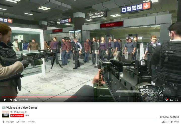 "Flughafen-Szene aus ""Modern Warfare 2"""