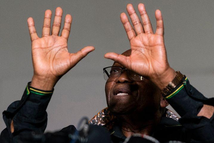 Jacob Zuma war von 2009 bis 2018 Präsident von Südafrika. Hier spricht er in seinem Haus in der Provinz KwaZulu-Natal