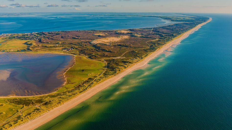 Luftbild von der Nordseeinsel Sylt