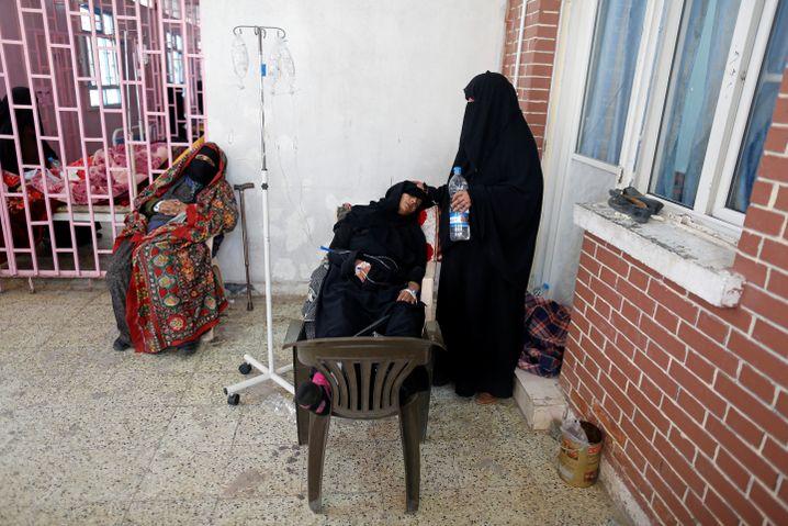 Cholera-Patientinnen in der jemenitischen Hauptstadt Sanaa, März 2019