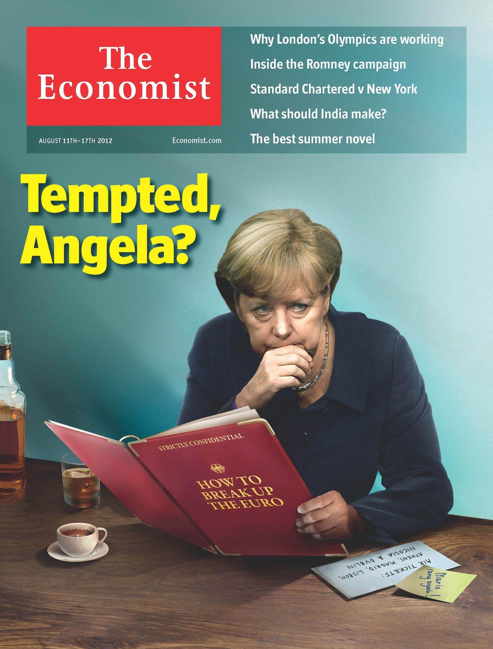 NUR ALS ZITAT The Economist / Angela Merkel