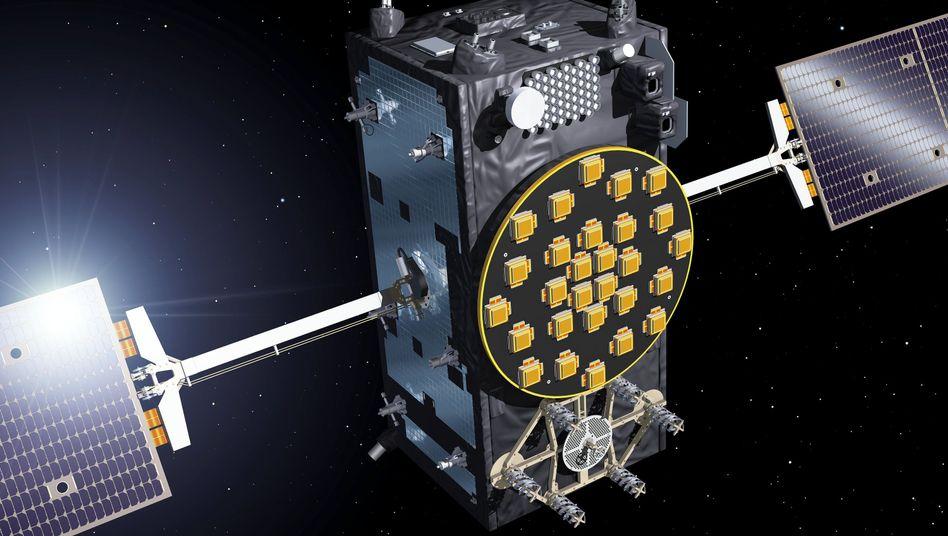 Illustration eines Galileo-Full-Operational-Capacity-Satelliten (FOC)