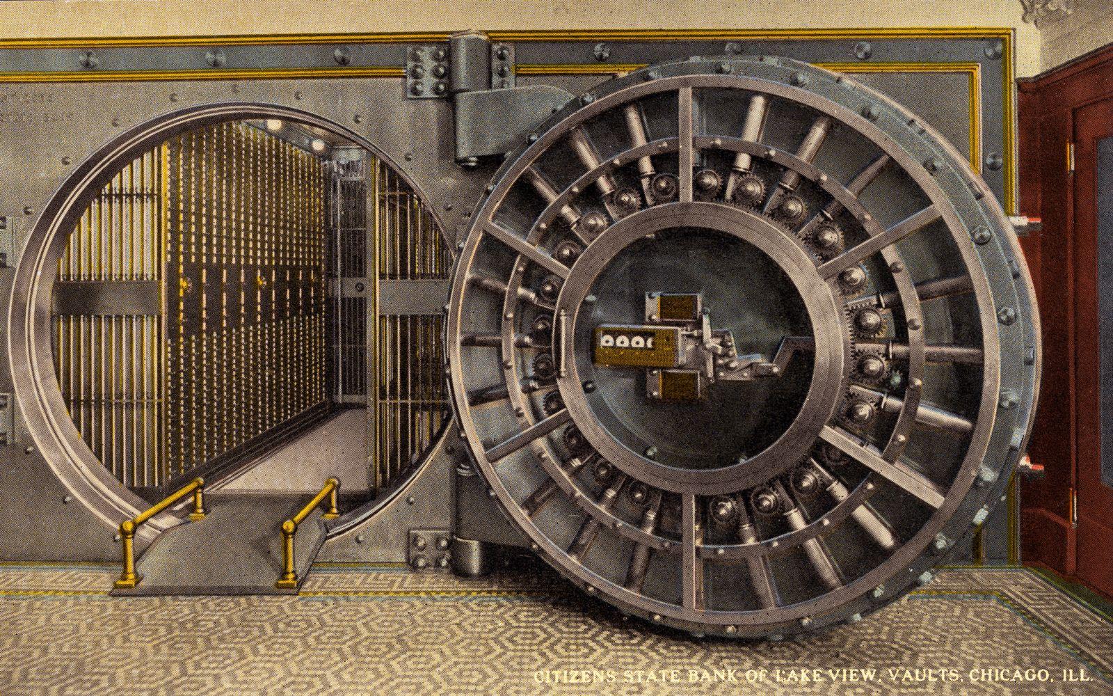 NICHT MEHR VERWENDEN! - Tresor / Safe / Geld / Bank / State Bank of Lake View / Chicago