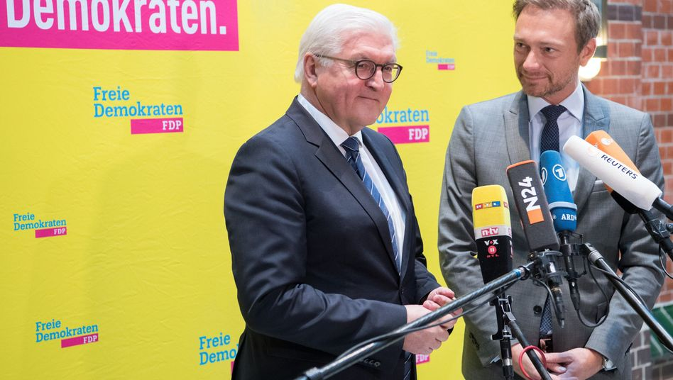 Außenminister Frank-Walter Steinmeier und der FDP-Vorsitzende Christian Lindner
