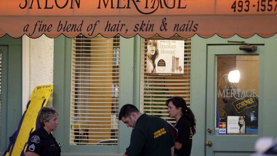 Polizisten am Tatort: Das schlimmste Blutbad in der Geschichte von Seal Beach