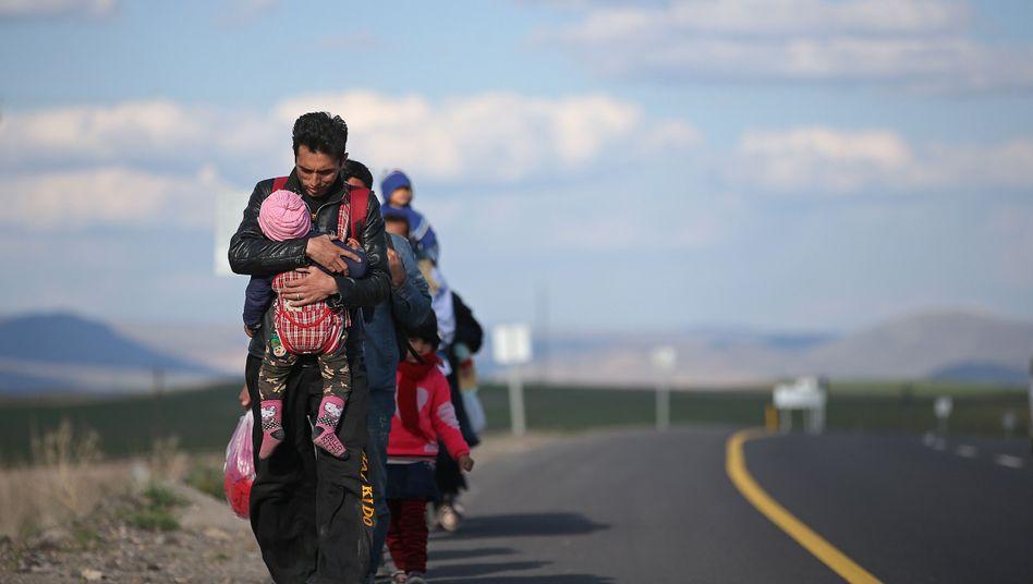 Flüchtlinge in Erzurum, Türkei