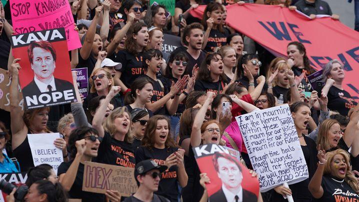 Washington: Proteste gegen Kavanaugh-Wahl