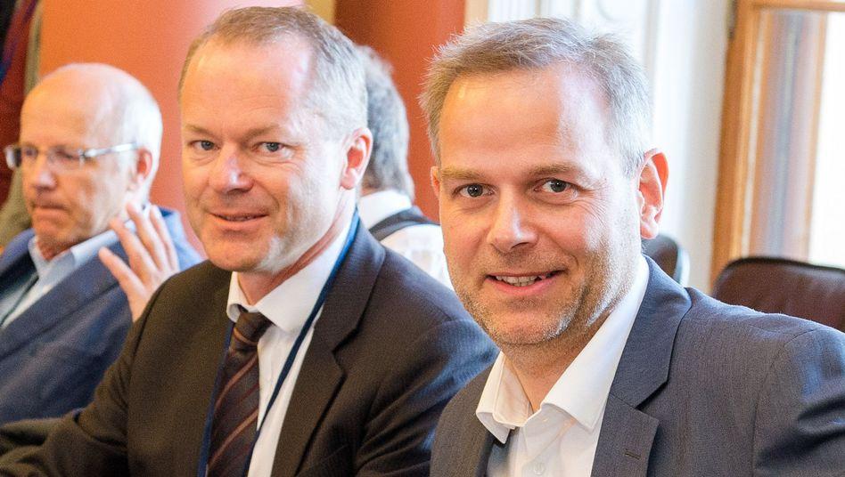 Leif-Erik Holm (r.), Matthias Manthei (M.)