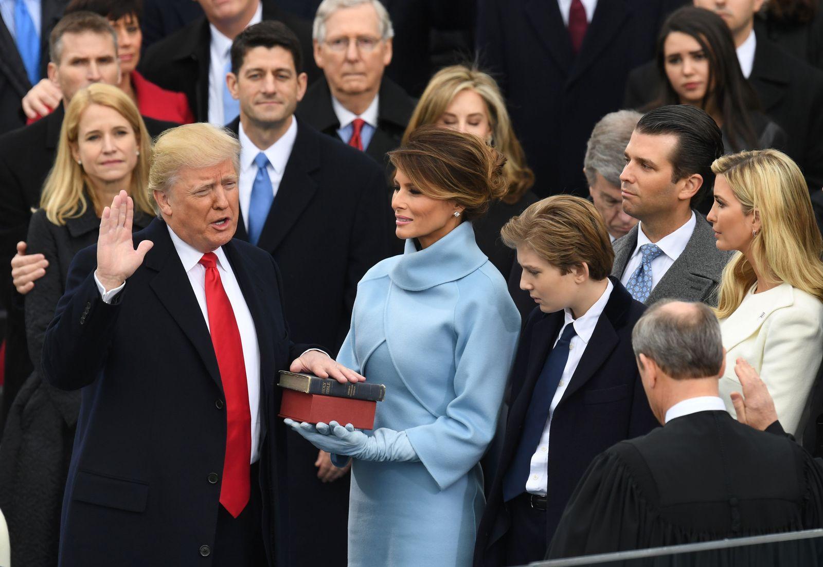 Trump/ Amtseinführung/ Vereidung