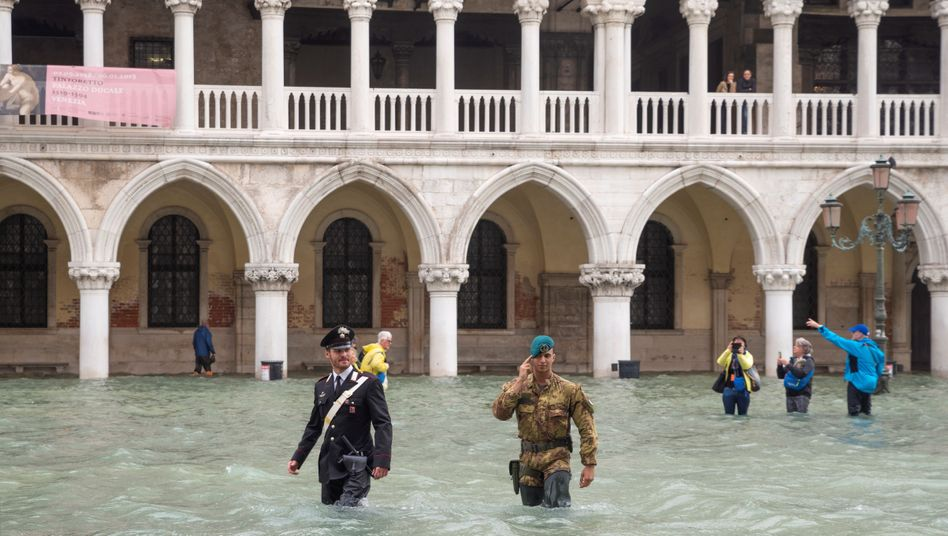 Flooding on St. Mark's Square in Venice Oct. 30
