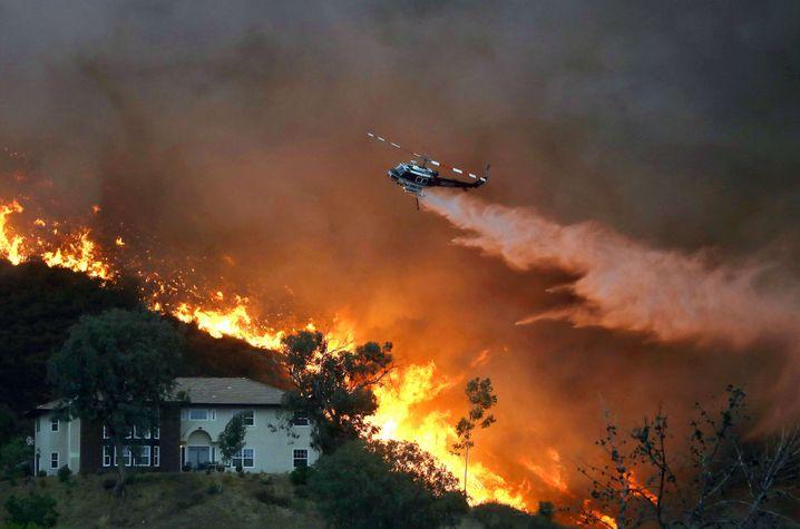 """Großfeuer in Kalifornien: Harris spricht von einer """"existenziellen Krise"""""""