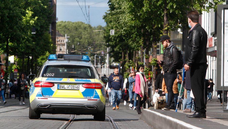 """Polizeistreife in Mannheim (Symbolbild): """"Da fehlt etwas"""""""