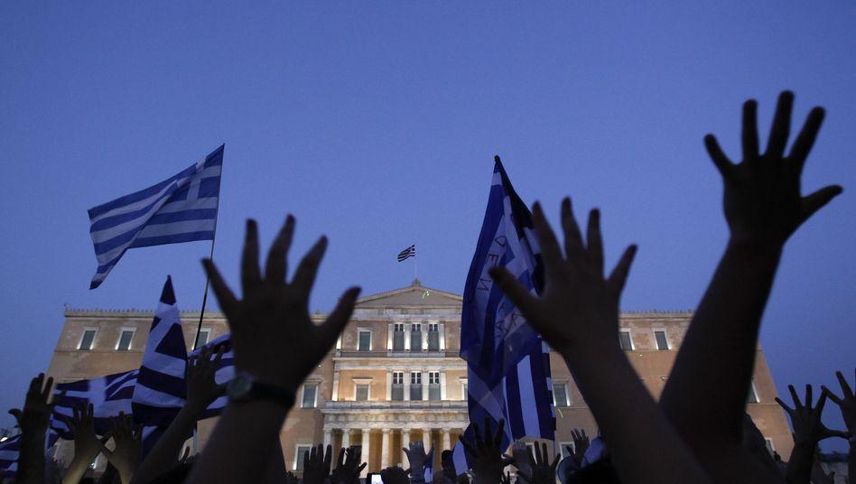 Proteste in Athen: Es ist nicht vorgesehen, dass die Schuldenländer nicht mitspielen