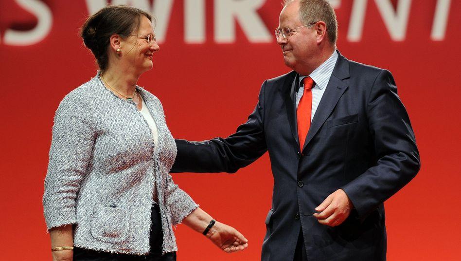Steinbrück mit Ehefrau Gertrud: Kampf mit den Tränen