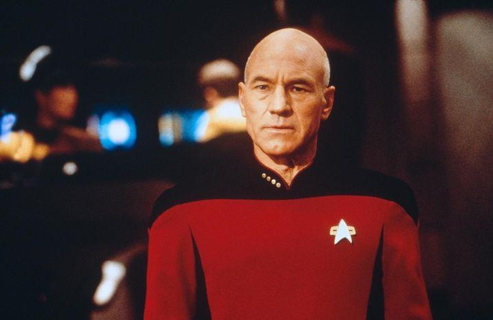 Jean-Luc Picard auf der Brücke